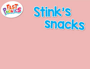 Stink's snacks decodable book