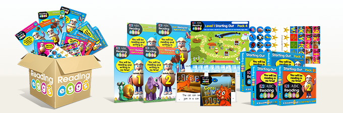Learn to Read Reading Eggs Level 1 Book Pack